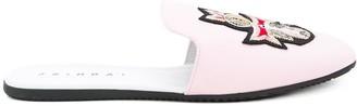 Joshua Sanders crest detail slippers