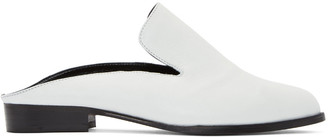 Robert Clergerie White Alicem Slip-On Loafers $495 thestylecure.com