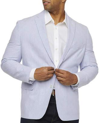 Izod Mens Blue Seersucker Sport Coat - Big and Tall