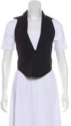 Helmut Lang Shawl Collar Button-Up Vest