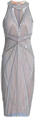 Rachel Gilbert Thyra Embellished Tulle Dress