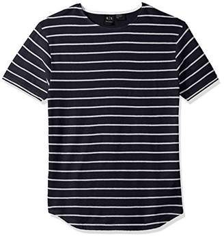 Armani Exchange A|X Men's Cotton Linen Striped Tee