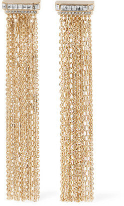 Lanvin - Gold-tone Crystal Clip Earrings - one size $895 thestylecure.com