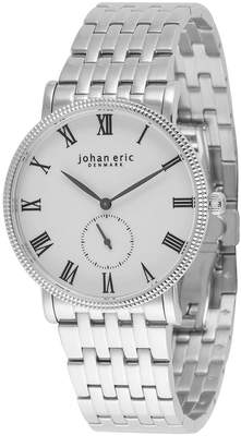 Johan Eric Men's Holstebro Quartz Silver Stainless Steel Bracelet Watch