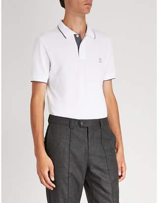 Brunello Cucinelli Logo-embroidered cotton-piqué polo shirt