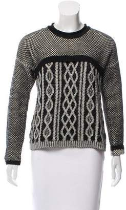 Yigal Azrouel Wool Cable Knit Sweater