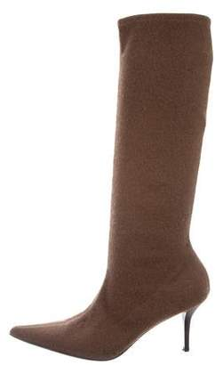 Casadei Pointed-Toe Knee-High Boots