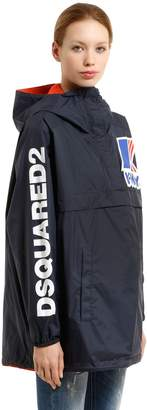 DSQUARED2 K-Way Reversible Logo Nylon Rain Jacket