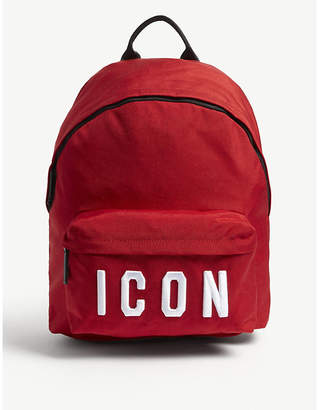 DSQUARED2 Red and White Icon Backpack