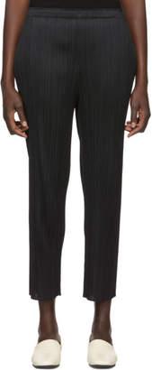 Pleats Please Issey Miyake Black Basics Pleated Skinny Trousers