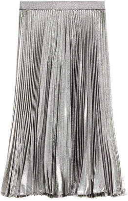 Christopher Kane Pleated Skirt with Silk