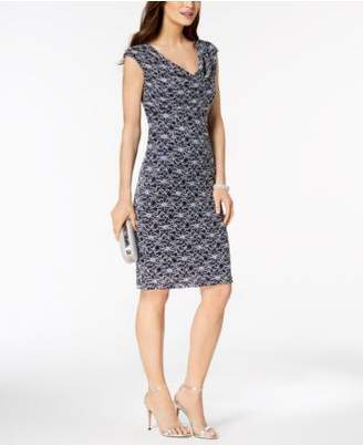 Connected Embellished Lace Sheath Dress