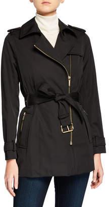 MICHAEL Michael Kors Zip-Front Trench Jacket