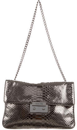 MICHAEL Michael Kors Michael Kors Embossed Metallic Leather Shoulder Bag