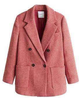 MANGO Houndstooth coat
