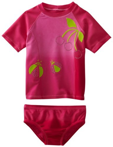 Lemons And Limes Girls 7-16 Blush Rash Guard
