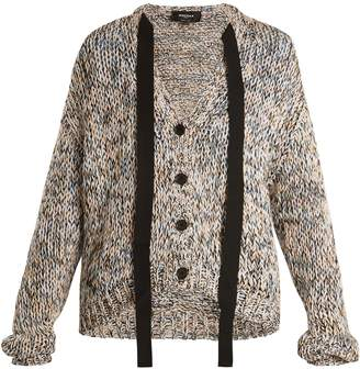 Rochas Tie-neck cotton cardigan