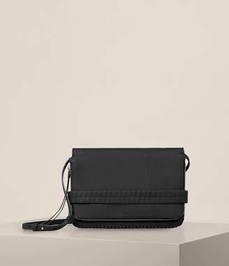 AllSaints Club Leather Clutch
