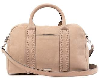Rebecca Minkoff Vanity Nubuck Leather Zip Satchel