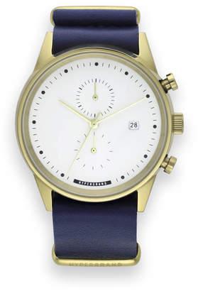 Hypergrand UK Streetstyle Maverick Nautical Blue Leather Chronograph