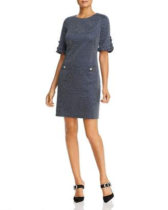 Karl Lagerfeld Paris Short-Sleeve Jacquard Dress