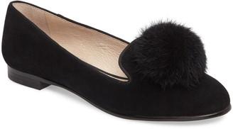 Louise et Cie Andres Genuine Rabbit Fur Pom Loafer