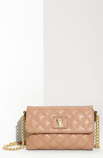 MARC JACOBS 'Quilting - Single' Lambskin Leather Shoulder Bag