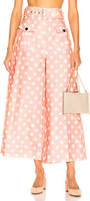 Zimmermann Corsage Safari Pant in Peach & Ivory Dot | FWRD
