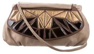 Loewe Metallic Leather Crossbody Bag