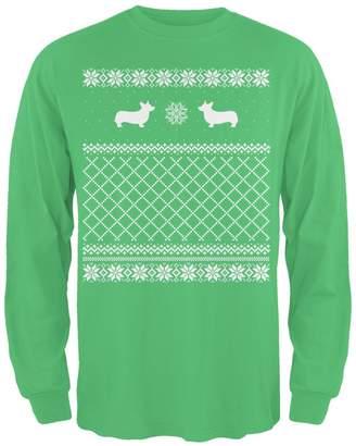 Corgi Animal World Ugly Christmas Sweater Irish Adult Long Sleeve T-Shirt