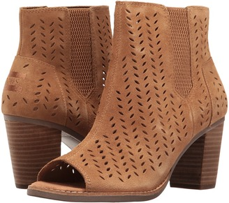 TOMS - Majorca Peep Toe Bootie Women's Toe Open Shoes $109 thestylecure.com