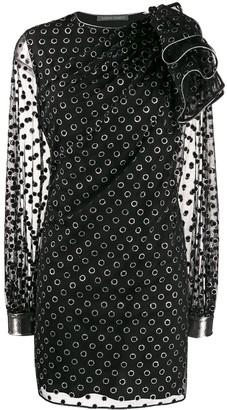 Alberta Ferretti polka dot print dress