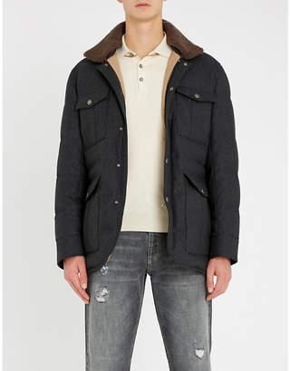 Brunello Cucinelli Contrast-trim cotton-piqué polo shirt