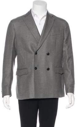 Liberty of London Designs Double-Breasted Virgin Wool Blazer