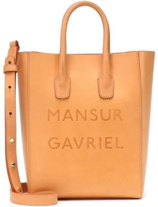 Mansur Gavriel Logo Small leather tote