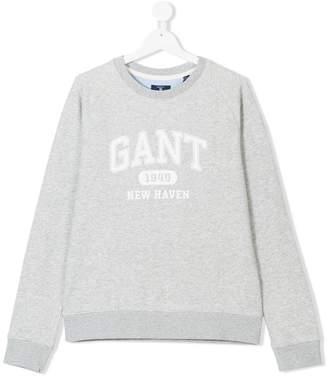 Gant Kids TEEN logo print sweatshirt