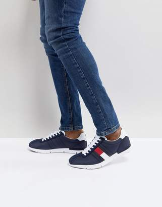 Tommy Hilfiger Retro Lightweight Sneakers Icon Flag In Navy