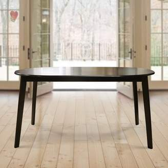 Warehouse Unbranded of Tiffany Mario Cappuccino Dark Brown Wood 59-inch Oval Dining Table