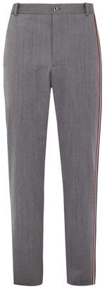 Thom Browne Tri Colour Striped Wool Blend Trousers - Mens - Grey