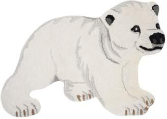 Polar Bear Wool & Cotton Rug