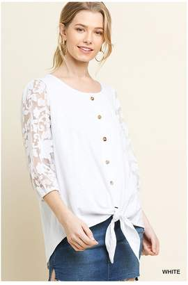 Umgee White Lace Top