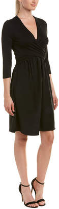 Three Dots Crossover Silk Skirt A-Line Dress