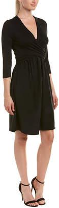 Three Dots Crossover Silk Skirt A-Line Dress