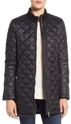 French Connection Quilted Front Zip Coat $118 thestylecure.com