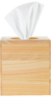Hinoki Tissue Box Cover - Cube