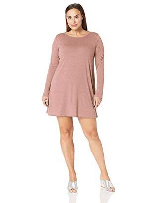 Lyss Loo Women's Plus Shift & Shout Long Sleeve Over-Sized Tunic