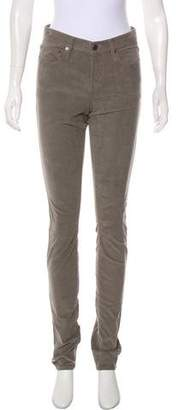Helmut Lang Mid-Rise Corduroy Skinny Pants