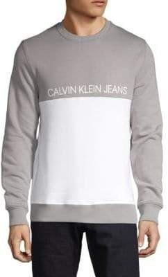 Calvin Klein Jeans Logo Colorblock Sweatshirt