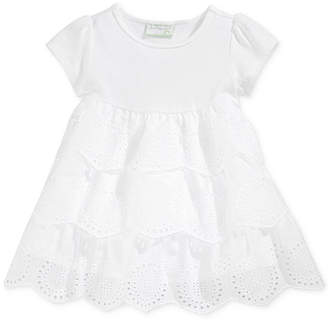 First Impressions Tiered Eyelet Dress, Baby Girls, Created for Macy's