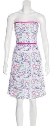 Tibi Embroidered Paisley Dress